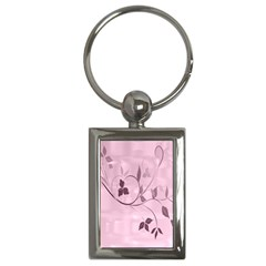 Floral Purple Key Chain (rectangle) by uniquedesignsbycassie