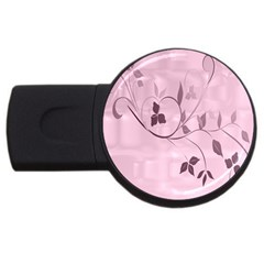 Floral Purple 2gb Usb Flash Drive (round) by uniquedesignsbycassie