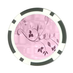 Floral Purple Poker Chip (10 Pack) by uniquedesignsbycassie