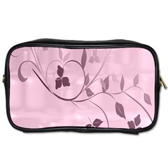 Floral Purple Travel Toiletry Bag (two Sides) by uniquedesignsbycassie
