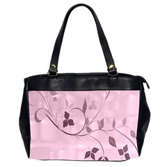 Floral Purple Oversize Office Handbag (two Sides) by uniquedesignsbycassie