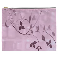 Floral Purple Cosmetic Bag (XXXL)