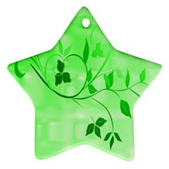 Floral Green Star Ornament by uniquedesignsbycassie