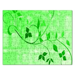 Floral Green Jigsaw Puzzle (rectangle) by uniquedesignsbycassie