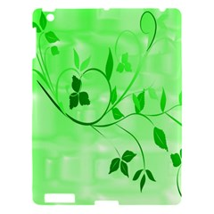 Floral Green Apple Ipad 3/4 Hardshell Case by uniquedesignsbycassie