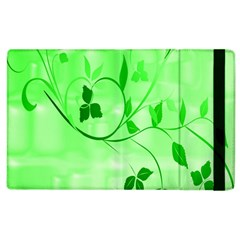 Floral Green Apple Ipad 2 Flip Case by uniquedesignsbycassie
