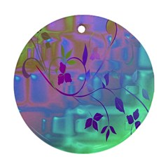 Floral Multicolor Round Ornament (two Sides)