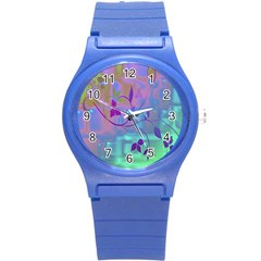 Floral Multicolor Plastic Sport Watch (small)