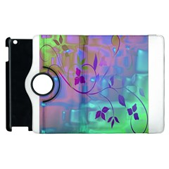 Floral Multicolor Apple Ipad 2 Flip 360 Case by uniquedesignsbycassie