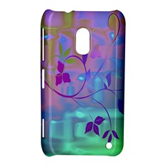 Floral Multicolor Nokia Lumia 620 Hardshell Case by uniquedesignsbycassie