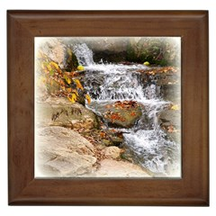Waterfall Framed Ceramic Tile by uniquedesignsbycassie
