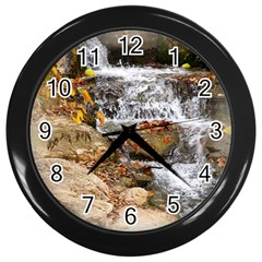 Waterfall Wall Clock (black) by uniquedesignsbycassie