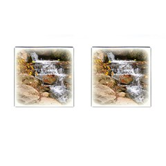 Waterfall Cufflinks (square) by uniquedesignsbycassie