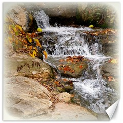 Waterfall Canvas 12  X 12  (unframed) by uniquedesignsbycassie