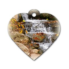 Waterfall Dog Tag Heart (two Sided) by uniquedesignsbycassie
