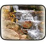 Waterfall Mini Fleece Blanket (Two Sided) 35 x27 Blanket Back