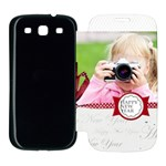 new year - Samsung Galaxy S3 Flip Cover Case