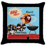 travel - Throw Pillow Case (Black)