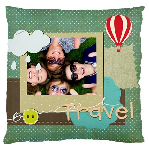 Travel By Travel   Large Cushion Case (one Side)   F3v1x11w6v0l   Www Artscow Com Front