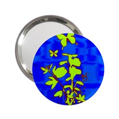 Butterfly Blue/green Handbag Mirror (2 25 ) by uniquedesignsbycassie