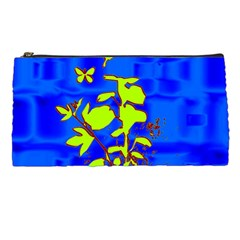 Butterfly Blue/green Pencil Case