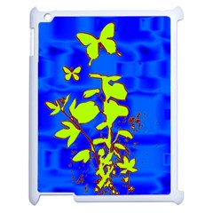 Butterfly blue/green Apple iPad 2 Case (White)