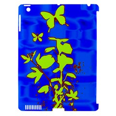 Butterfly Blue/green Apple Ipad 3/4 Hardshell Case (compatible With Smart Cover) by uniquedesignsbycassie