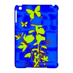 Butterfly Blue/green Apple Ipad Mini Hardshell Case (compatible With Smart Cover) by uniquedesignsbycassie