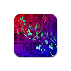 Floral Colorful Drink Coaster (square)