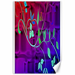 Floral Colorful Canvas 24  X 36  (unframed) by uniquedesignsbycassie