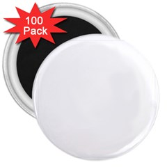 Your Logo Here 3  Button Magnet (100 Pack)