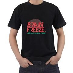 Brain Freeze Mens' Two Sided T Shirt (black)