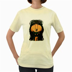 Dragon House  Womens  T Shirt (yellow) by Contest1731890