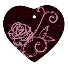 Rose Heart Ornament by uniquedesignsbycassie