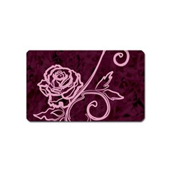 Rose Magnet (Name Card) by uniquedesignsbycassie