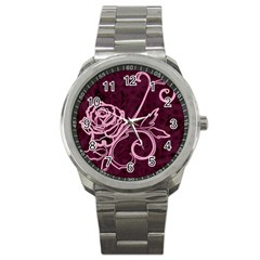 Rose Sport Metal Watch by uniquedesignsbycassie