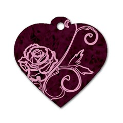 Rose Dog Tag Heart (two Sided) by uniquedesignsbycassie