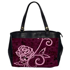 Rose Oversize Office Handbag (two Sides)