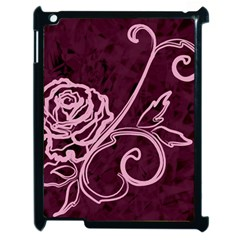 Rose Apple Ipad 2 Case (black) by uniquedesignsbycassie