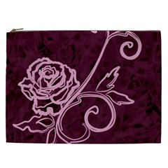 Rose Cosmetic Bag (xxl) by uniquedesignsbycassie