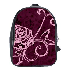 Rose School Bag (xl) by uniquedesignsbycassie
