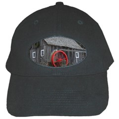 Vermont Christmas Barn Black Baseball Cap