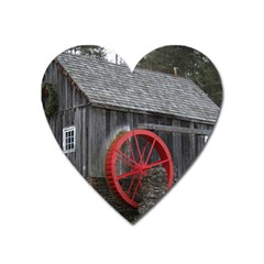 Vermont Christmas Barn Magnet (heart) by plainandsimple