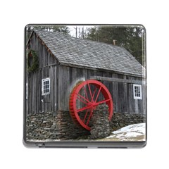 Vermont Christmas Barn Memory Card Reader With Storage (square) by plainandsimple