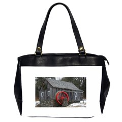 Vermont Christmas Barn Oversize Office Handbag (Two Sides) by plainandsimple