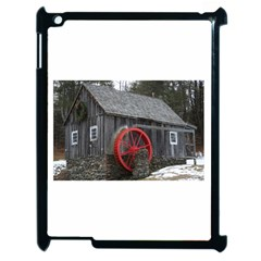 Vermont Christmas Barn Apple Ipad 2 Case (black) by plainandsimple