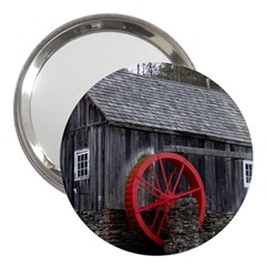 Vermont Christmas Barn 3  Handbag Mirror by plainandsimple