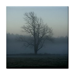 Foggy Tree Ceramic Tile