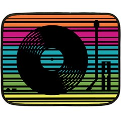 Dj Turn Table Mini Fleece Blanket (two Sided) by PaolAllen2