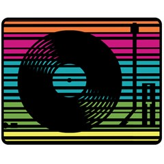 DJ turn table Fleece Blanket (Medium) by PaolAllen2